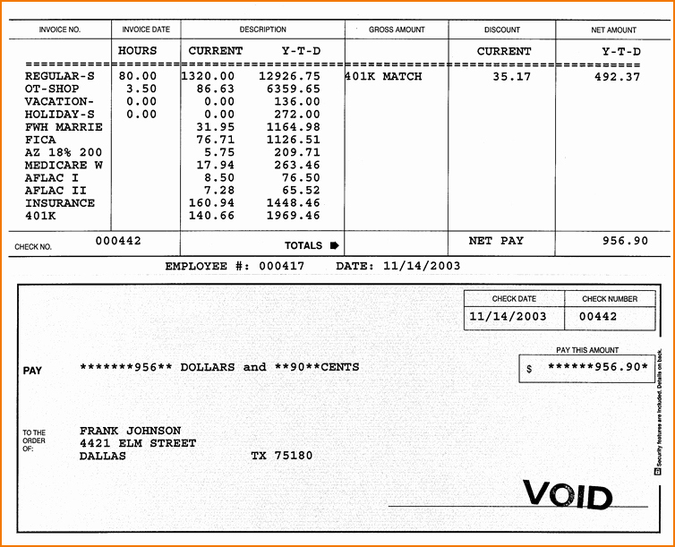 Free Paycheck Stub Template Fresh 5 Sample Check Stubs