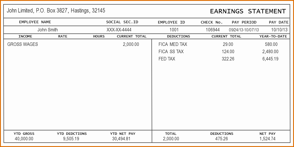 Free Paycheck Stub Template Lovely 8 Check Stub Template