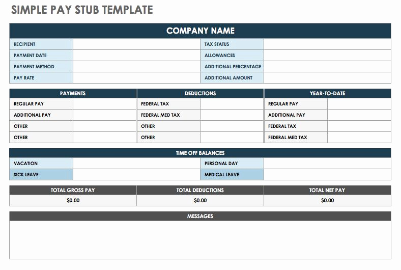 free pay stub templates