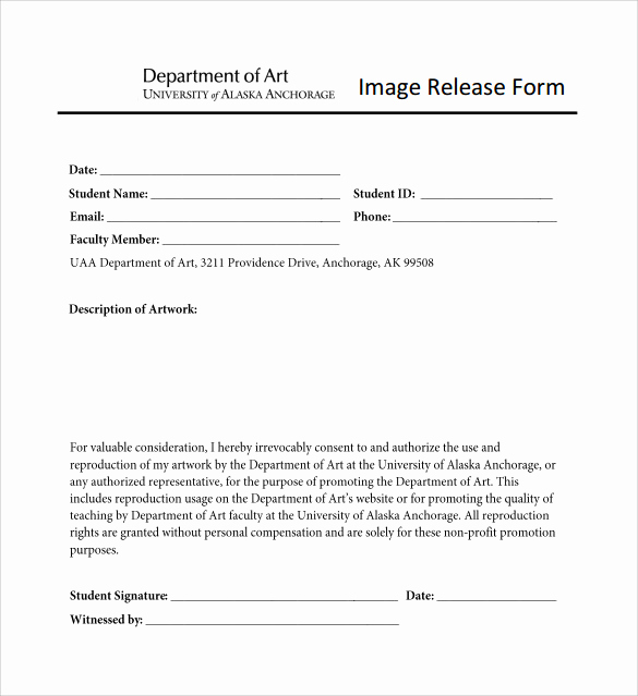Free Photo Release form Beautiful Image Release form 13 Download Documents In Pdf