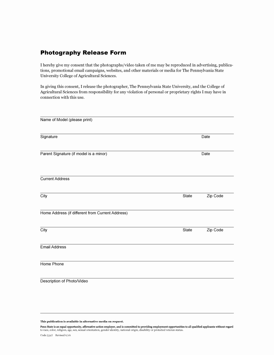 Free Photo Release form Fresh 53 Free Release form Templates [word Pdf]