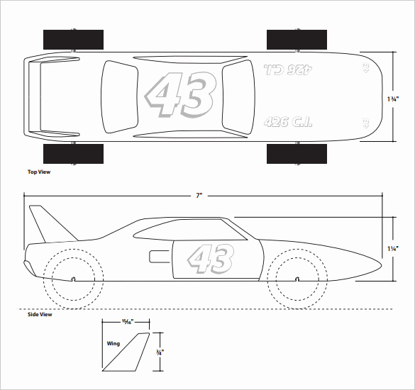 Free Pinewood Derby Car Templates Best Of 21 Cool Pinewood Derby Templates – Free Sample Example