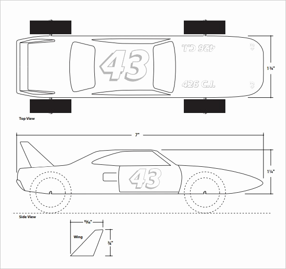 Free Pinewood Derby Car Templates Luxury Free Pinewood Derby Templates