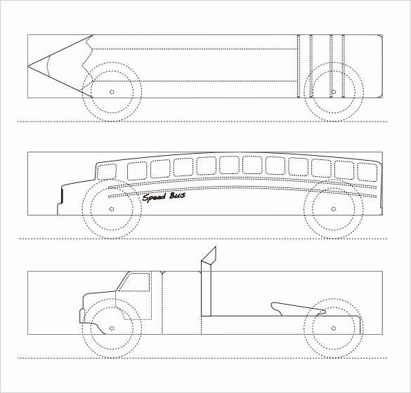 Free Pinewood Derby Car Templates New Pinewood Derby Templates