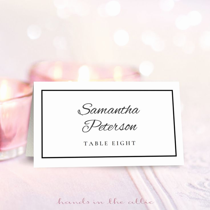 Free Place Card Template Beautiful 25 Best Ideas About Place Card Template On Pinterest