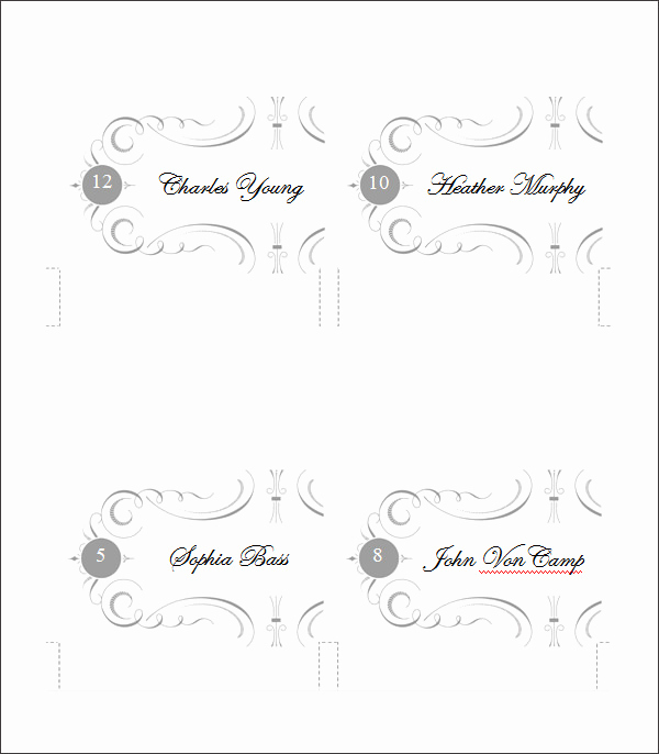 Free Place Card Template Beautiful 5 Printable Place Card Templates & Designs