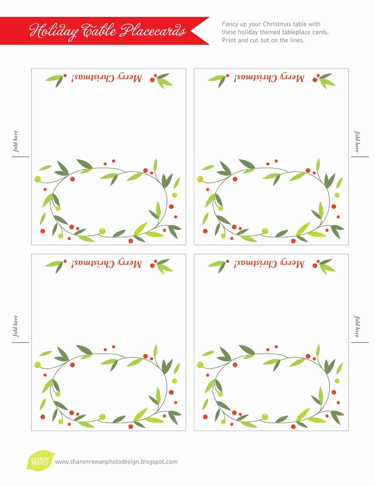 Free Place Card Template Beautiful Best 25 Christmas Place Cards Ideas On Pinterest