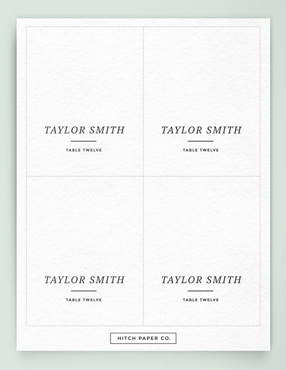 Free Place Card Template Beautiful Name Card Template 15 Free Sample Example format