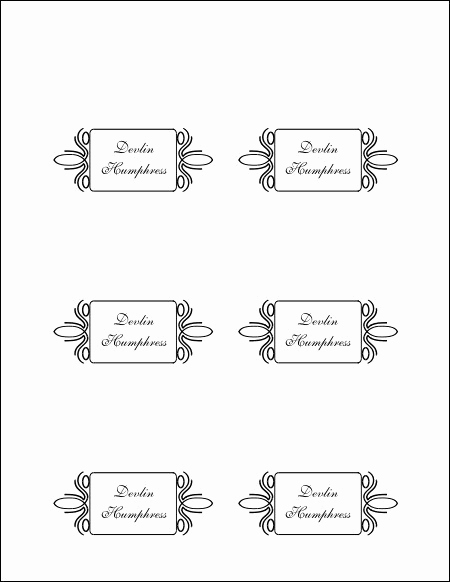Free Place Card Template Best Of Free Printable Blank Place Card Template