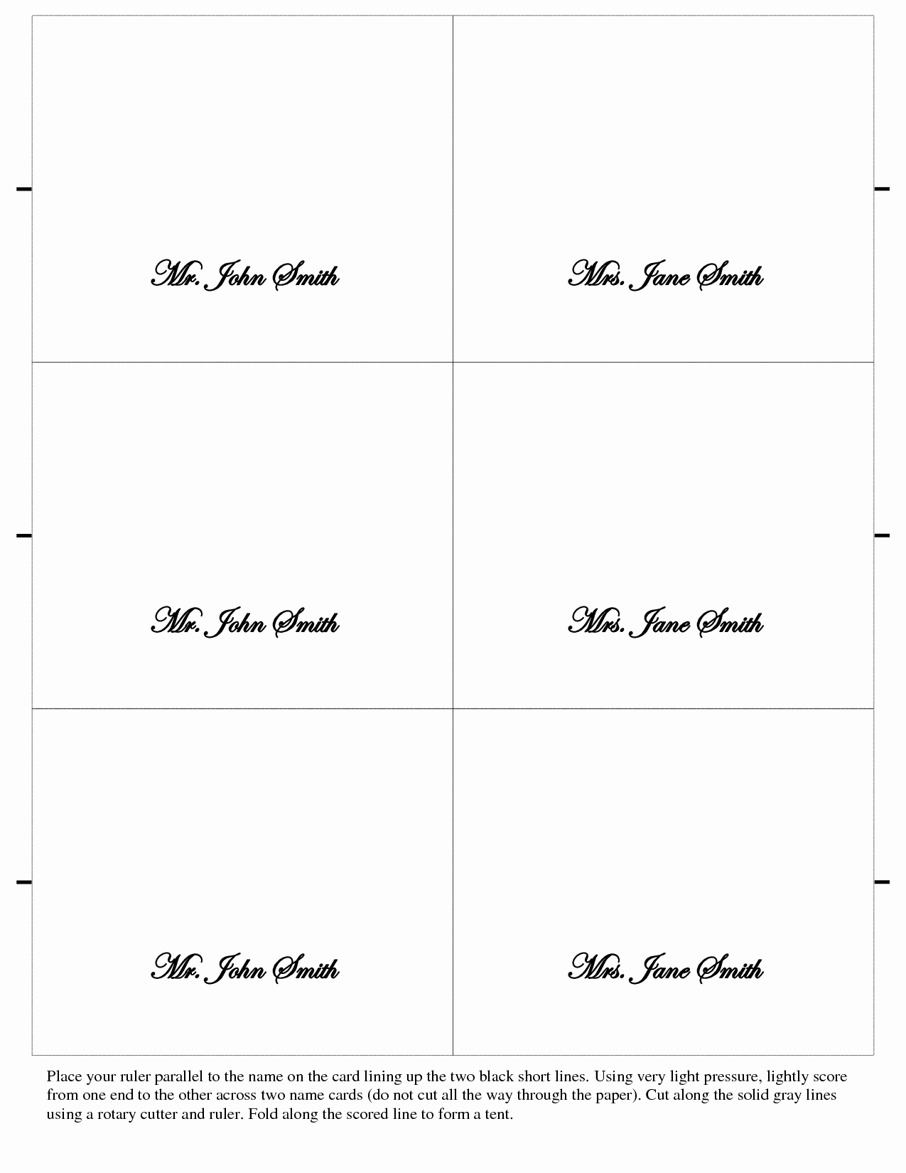 Free Place Card Template Elegant Card Printable Gallery Category Page 60