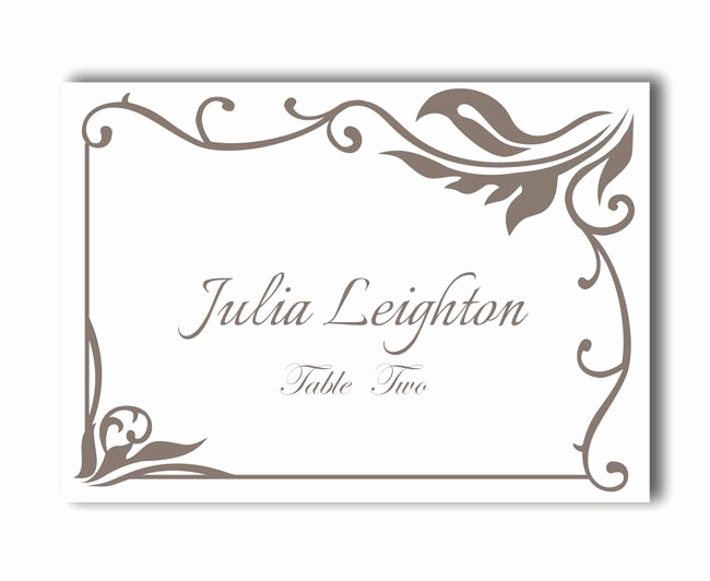 Free Place Card Template Lovely Place Cards Wedding Place Card Template Diy Editable