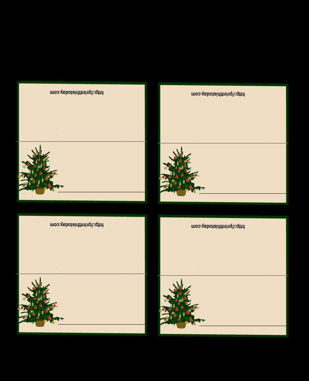 Free Place Card Template New Free Printable Christmas Place Cards