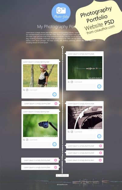 Free Portfolio Website Templates Awesome Graphy Portfolio Website Template Design Psd From Css