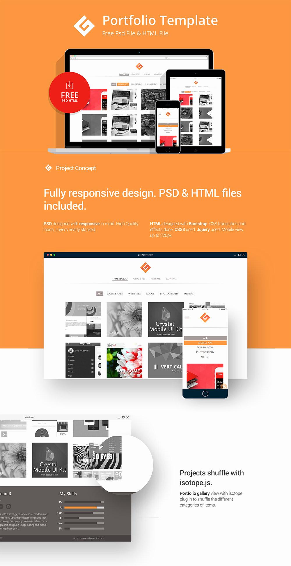 Free Portfolio Website Templates Best Of Download Free Minimalistic Personal Portfolio Website