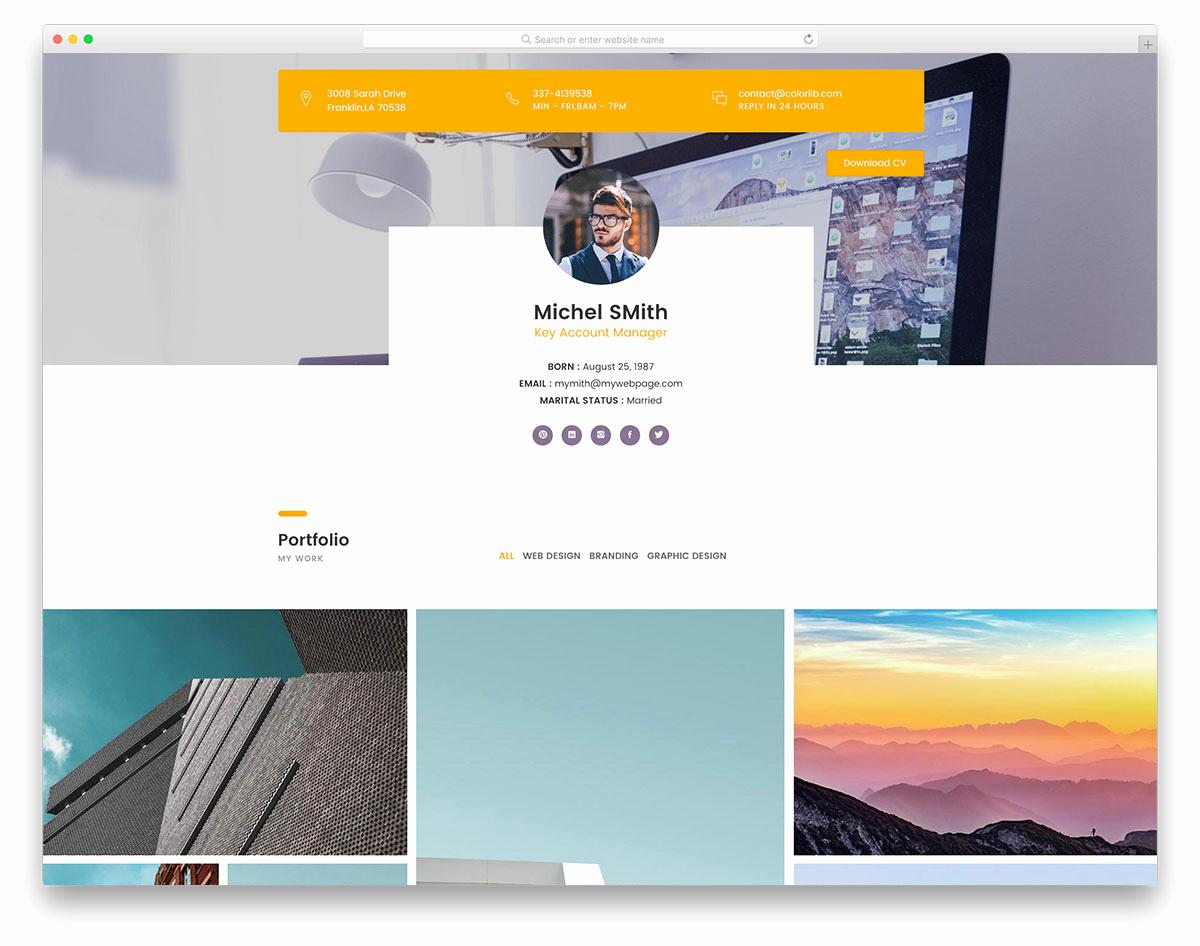 Free Portfolio Website Templates Elegant 28 Free Portfolio Website Templates for All Creative