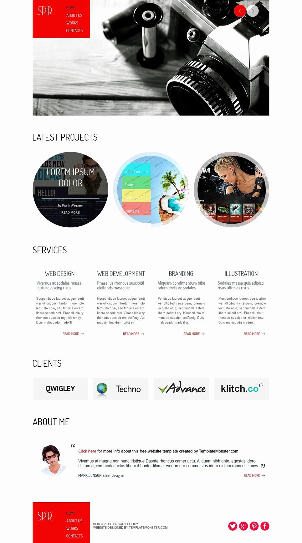 Free Portfolio Website Templates Fresh Free HTML Template for Portfolio Website