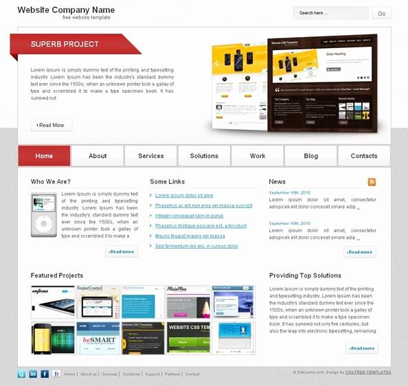 Free Portfolio Website Templates Fresh Free Website Css Template for Business and Portfolio