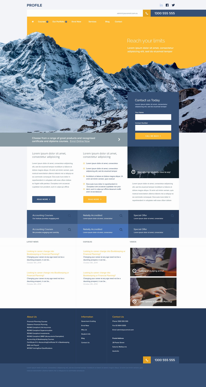 Free Portfolio Website Templates Lovely Free Profile Portfolio Website Template Shop Psd