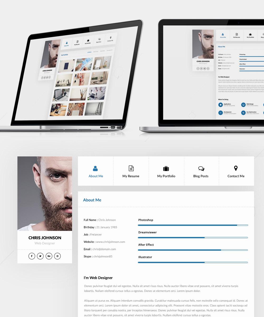 Free Portfolio Website Templates Luxury Resume and Portfolio Website Templates Free Psd Download