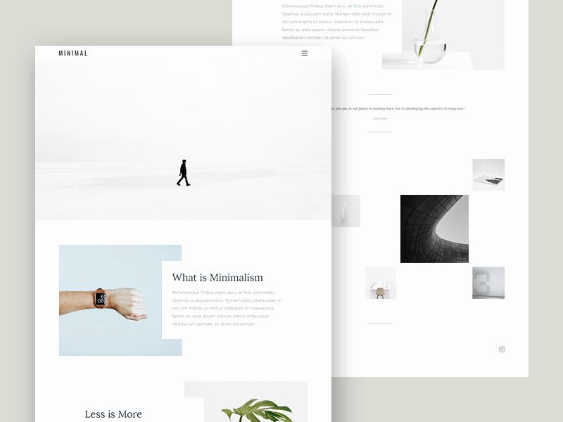 minimal portfolio template free psd