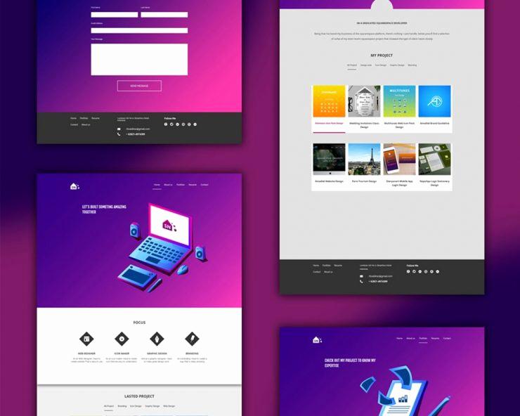 Free Portfolio Website Templates Unique Free Portfolio Website Templates Psd Download Psd