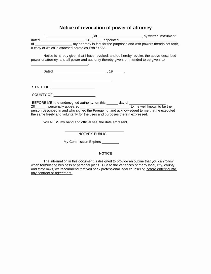 Free Power Of attorney Elegant Power attorney Template