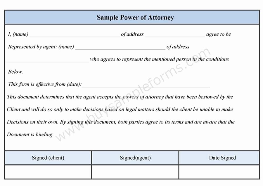 Free Power Of attorney forms Awesome Free Power attorney Template California Tinbox
