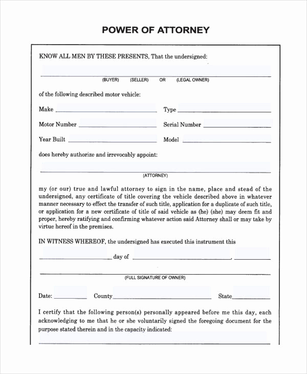 Free Power Of attorney forms Beautiful 24 Printable Power Of attorney forms