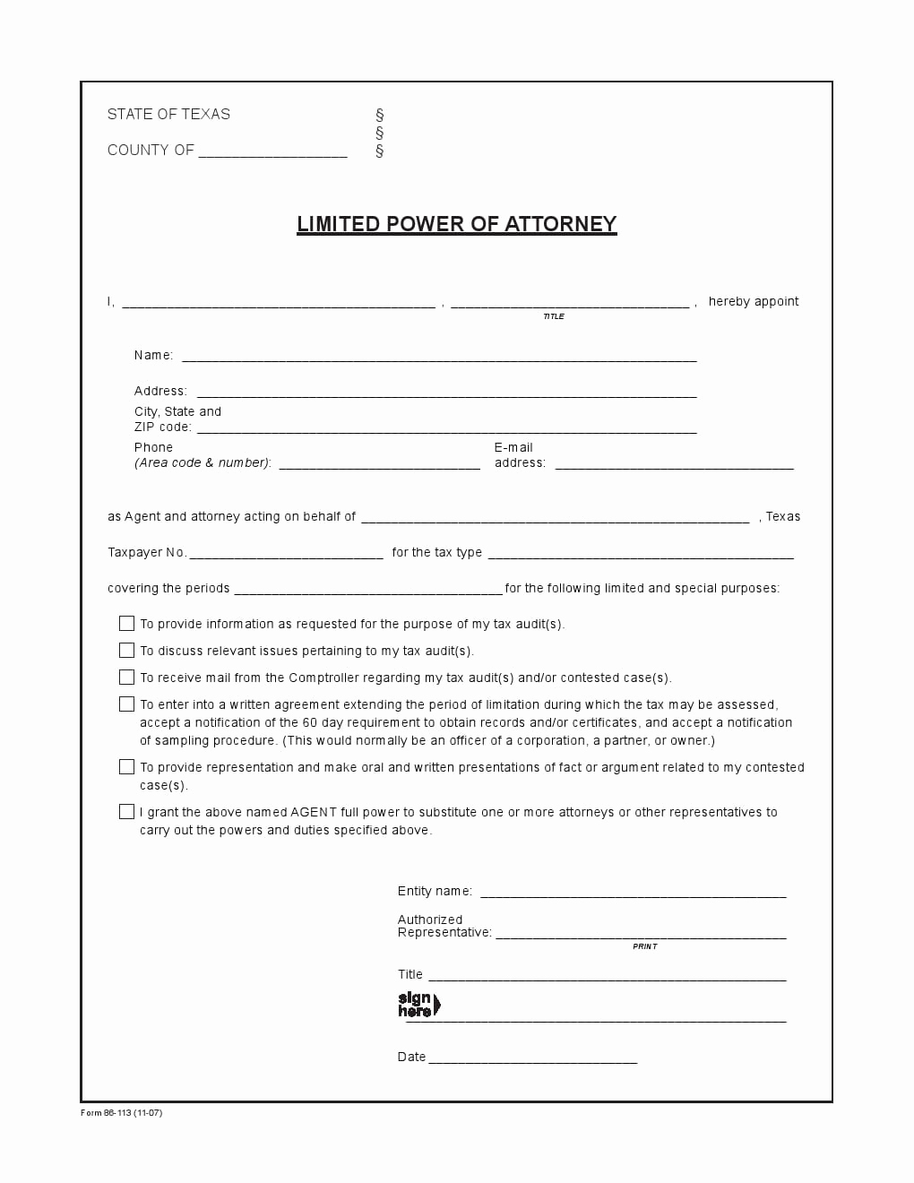 Free Power Of attorney forms Beautiful Free Texas Power Of attorney forms Adobe Pdf