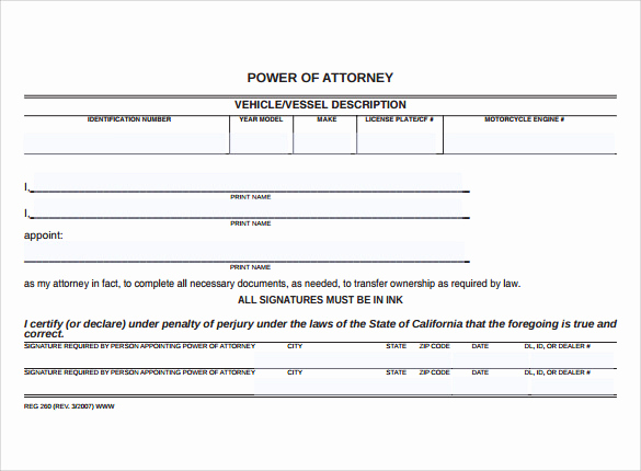 Free Power Of attorney forms Elegant 8 Blank Power Of attorney forms – Samples Examples