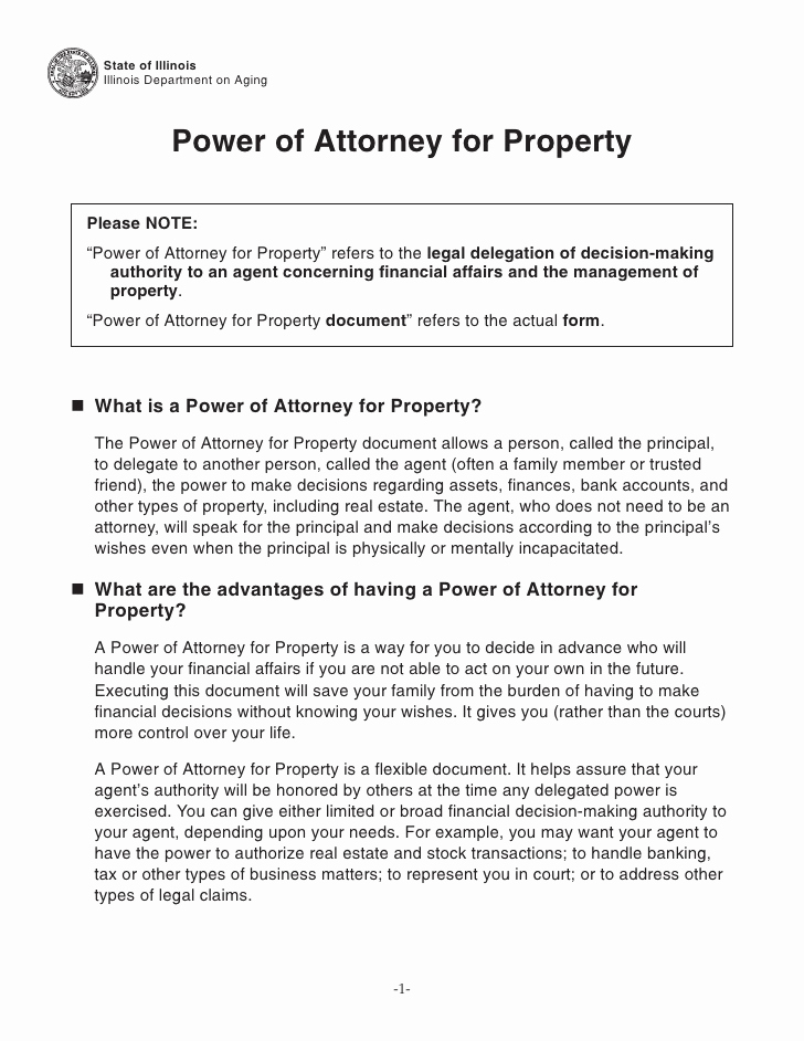 Free Power Of attorney Inspirational Power Of attorney for Property