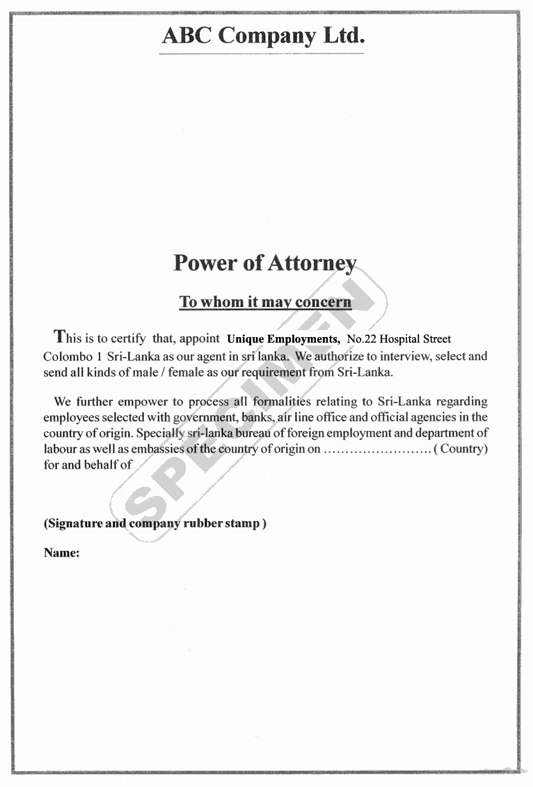Free Power Of attorney Luxury Unique Employments Recruitment Process