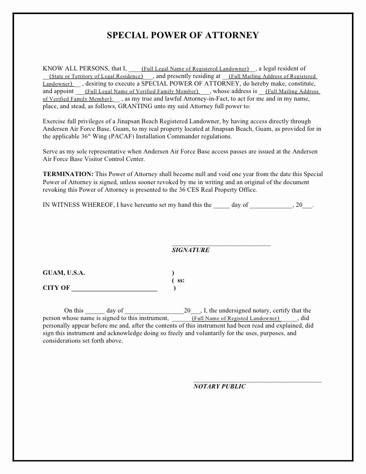 Free Power Of attorney New Printable Sample Power attorney Template form