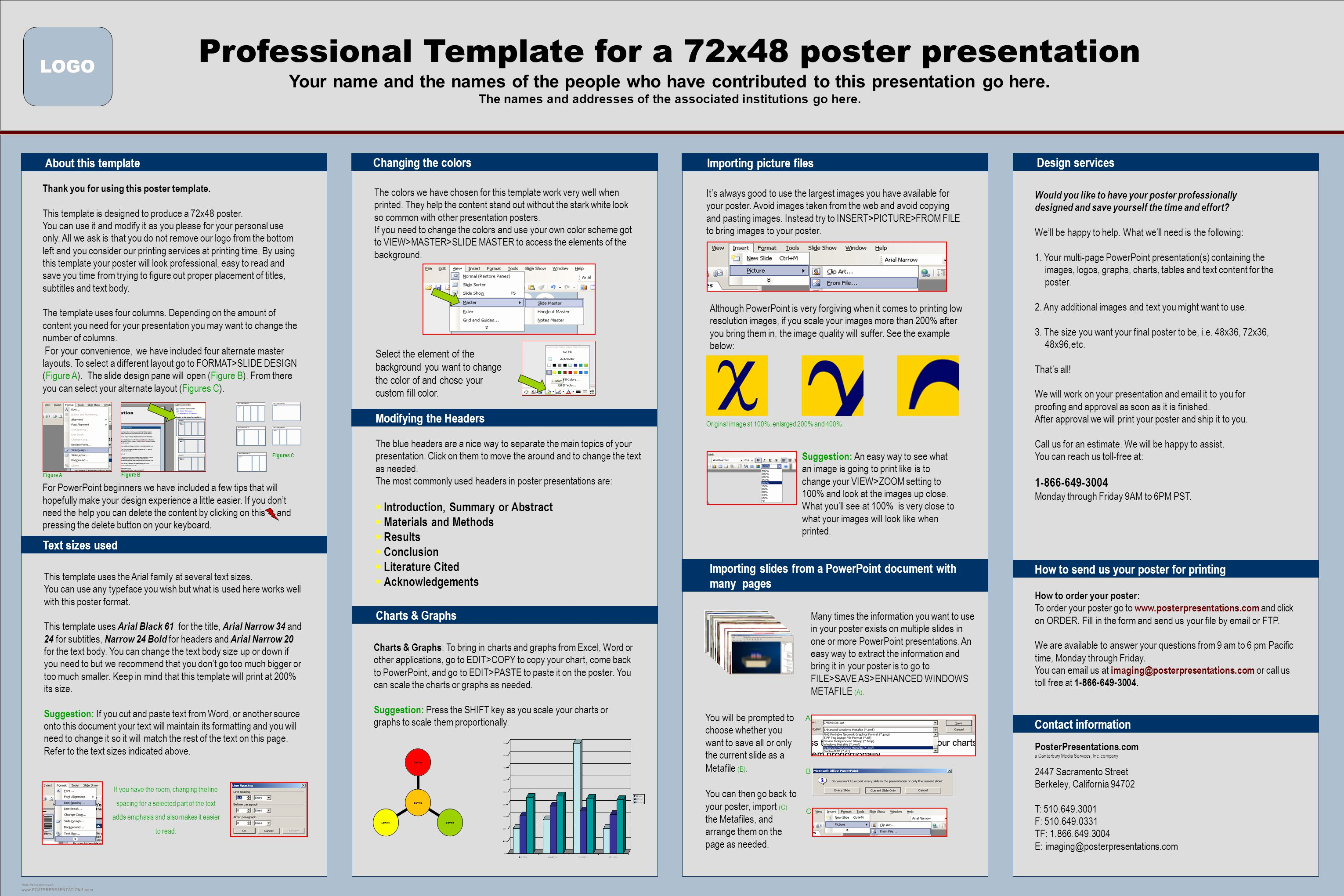 Free Powerpoint Poster Templates Beautiful Professional Template for A 72x48 Poster Presentation