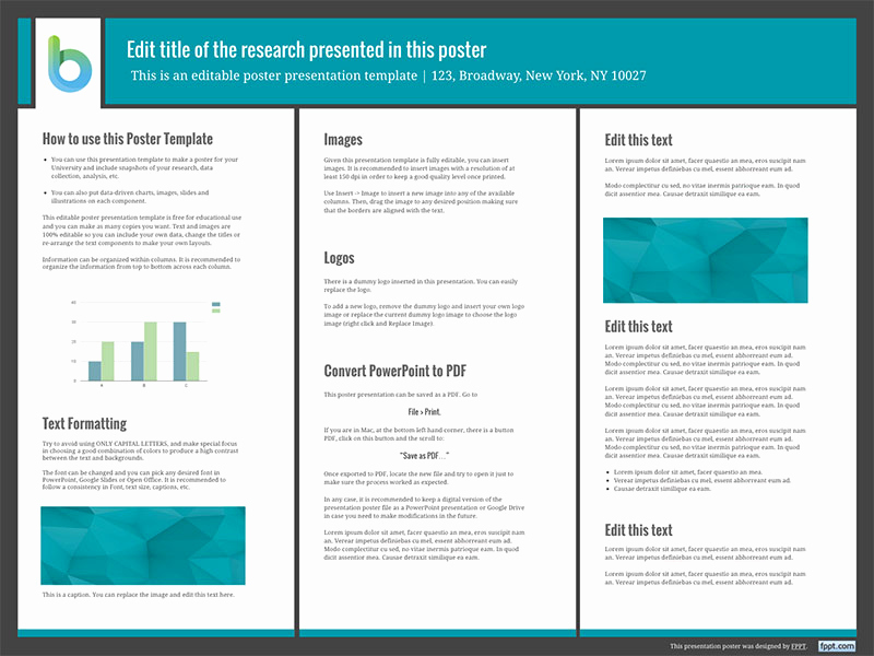 Free Powerpoint Poster Templates Fresh Presentation Poster Templates Free Powerpoint Templates