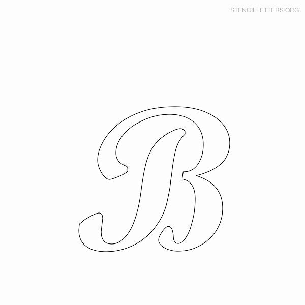 Free Printable Alphabet Stencils Awesome Stencil Letters B Printable Free B Stencils