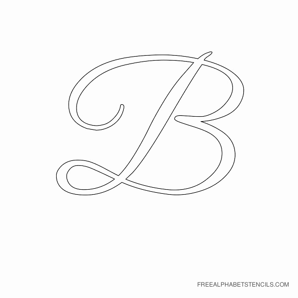Free Printable Alphabet Stencils Best Of Elegant Cursive Alphabet Stencils In Printable format