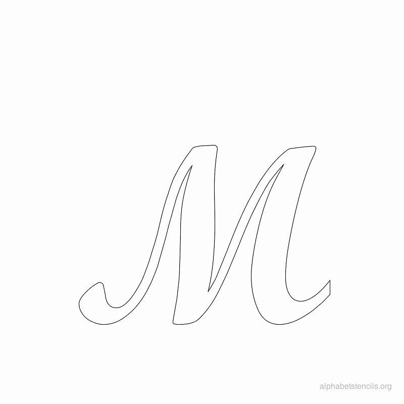 Free Printable Alphabet Stencils Best Of Print Free Alphabet Stencils Cursive M