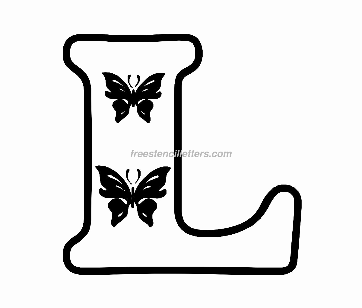 Free Printable Alphabet Stencils Elegant Print L Letter Stencil Free Stencil Letters