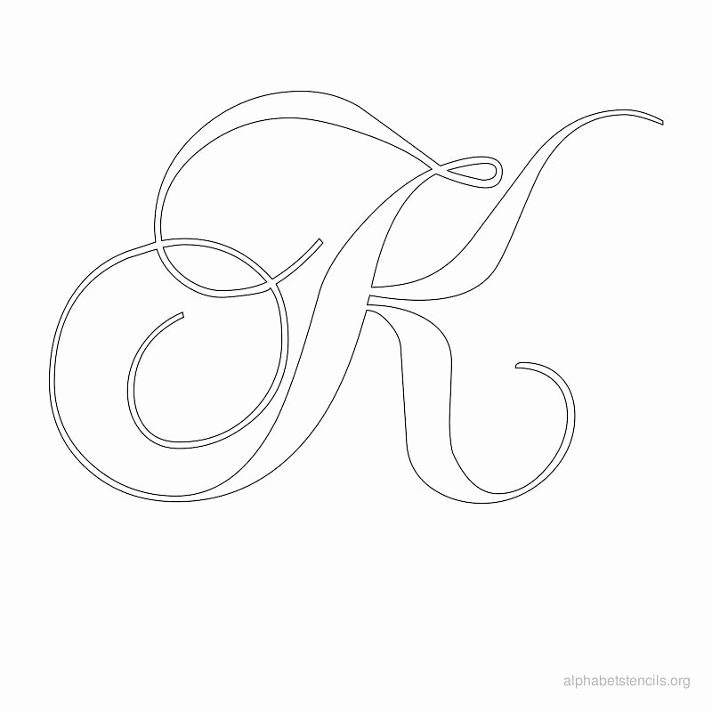 Free Printable Alphabet Stencils Lovely Alphabet Stencils Calligraphy K Stencils