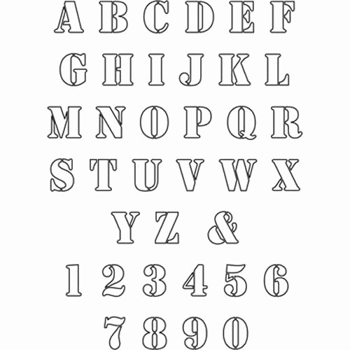 Free Printable Alphabet Stencils Lovely Free Patterns to Print Out