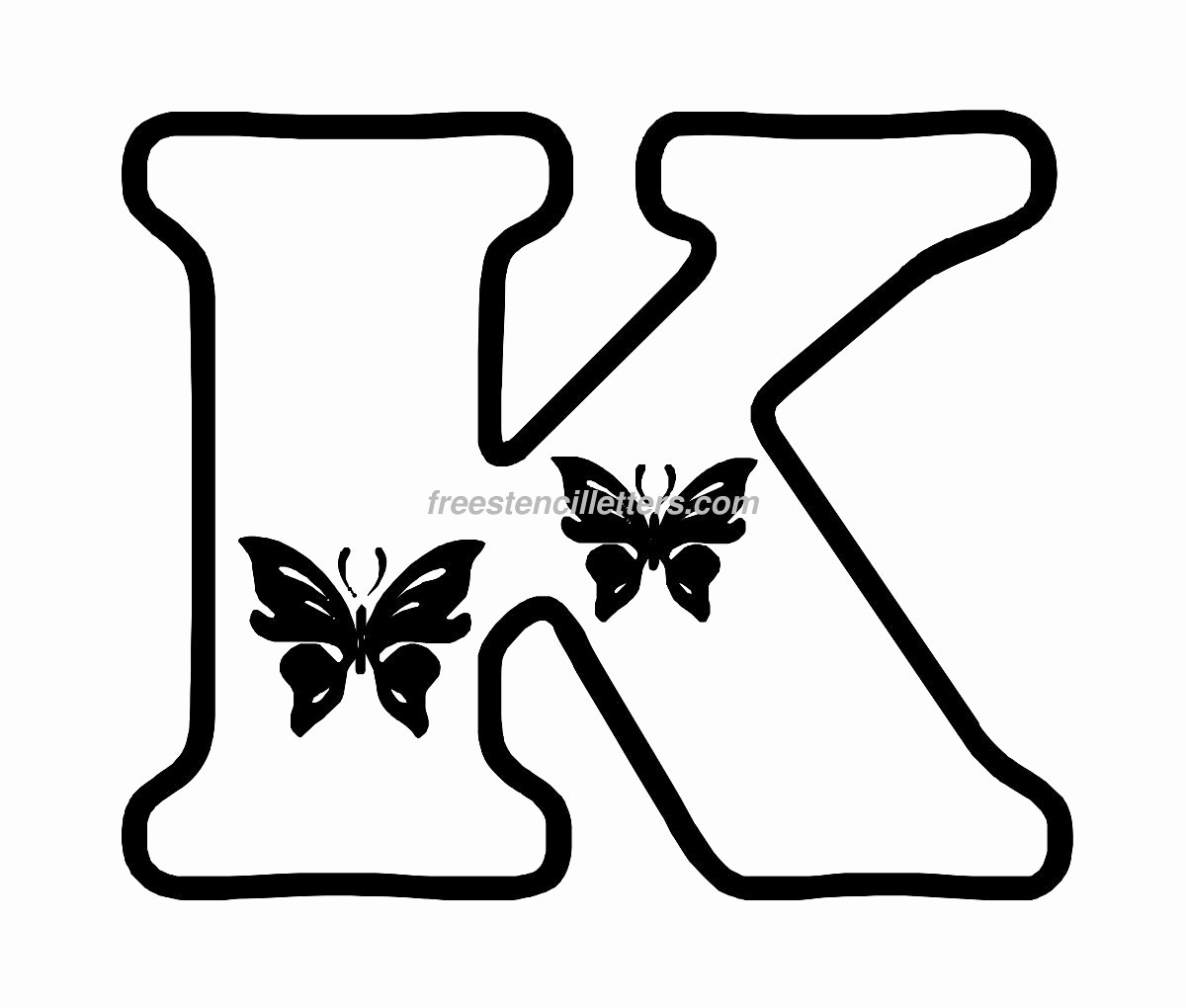 Free Printable Alphabet Stencils Templates Best Of butterfly Stencil Letters Archives Free Stencil Letters