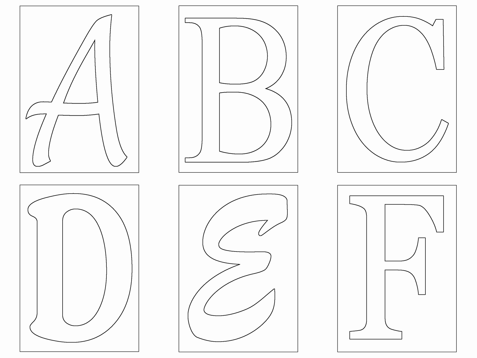 Free Printable Alphabet Stencils Templates Elegant Free Letter Templates