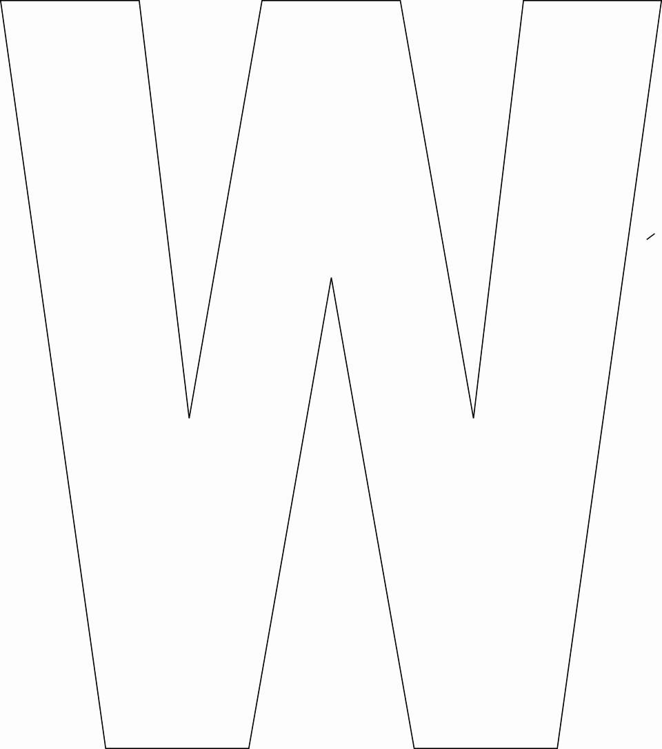 printable upper case alphabet template