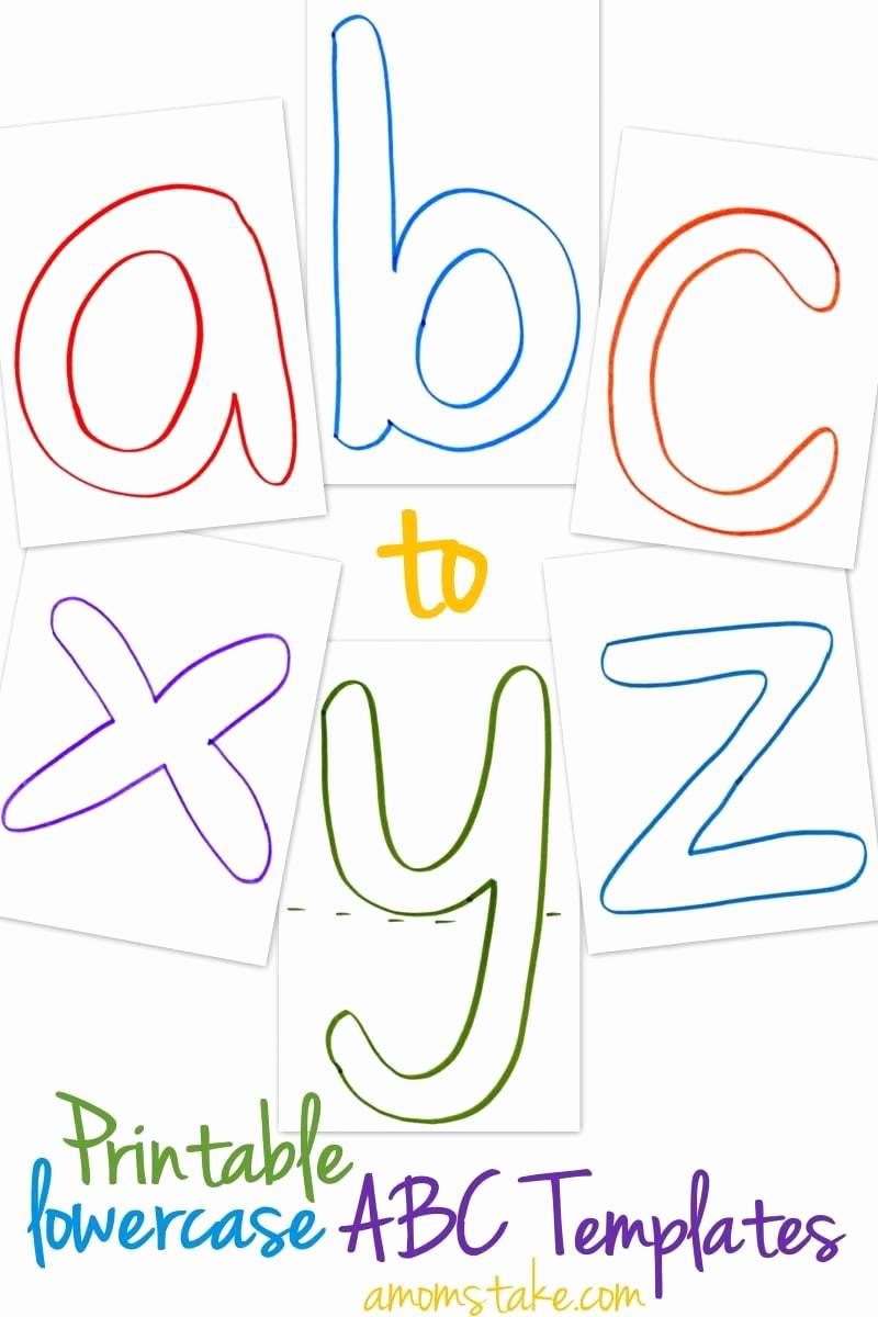Free Printable Alphabet Templates Elegant Lowercase Abc Templates Free Printable A Mom S Take