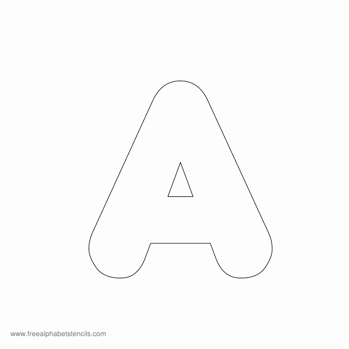 Free Printable Alphabet Templates Lovely Preschool Alphabet Stencils