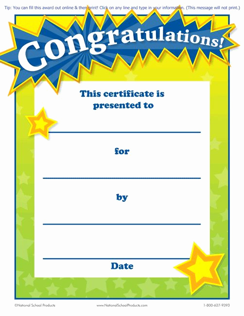 Free Printable Award Certificates Awesome Printable Congratulations Award for Teachers Free