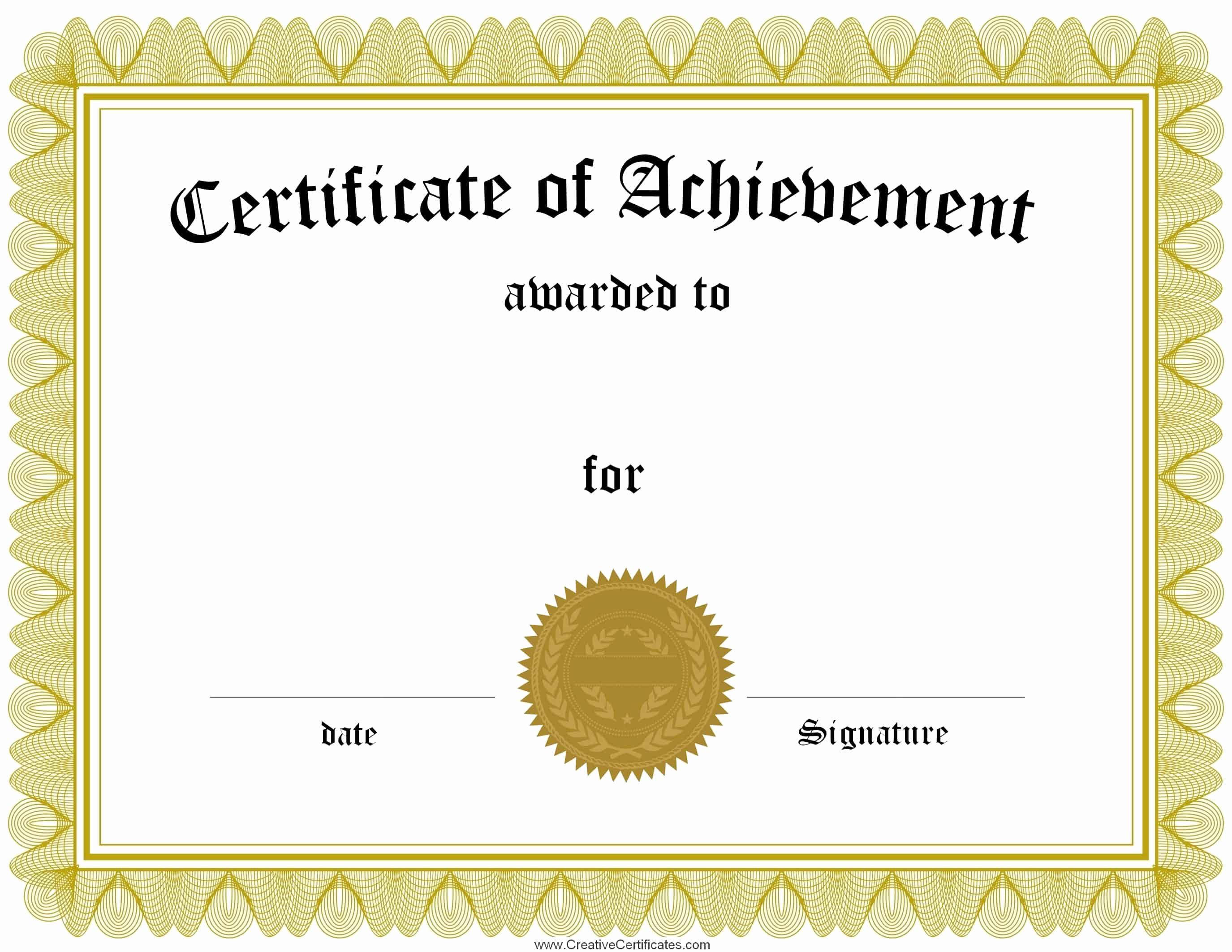 Free Printable Award Certificates Beautiful Free Customizable Certificate Of Achievement
