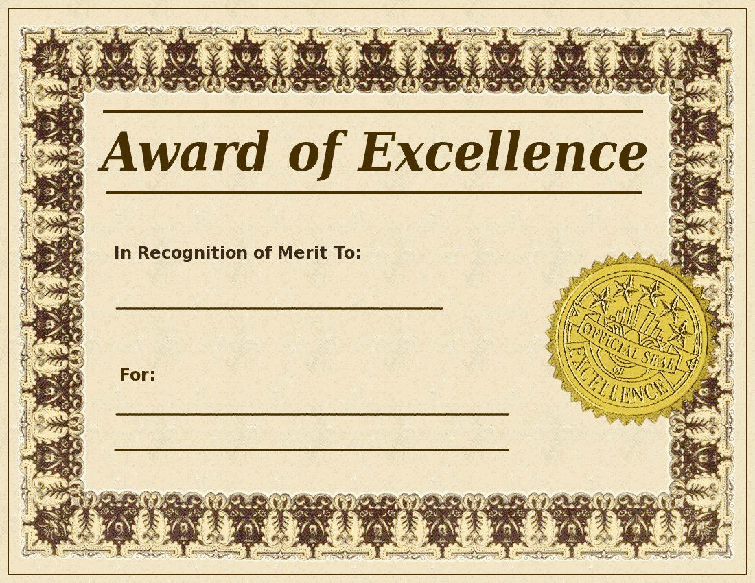 Free Printable Award Certificates Best Of Blank Award Certificate Templates
