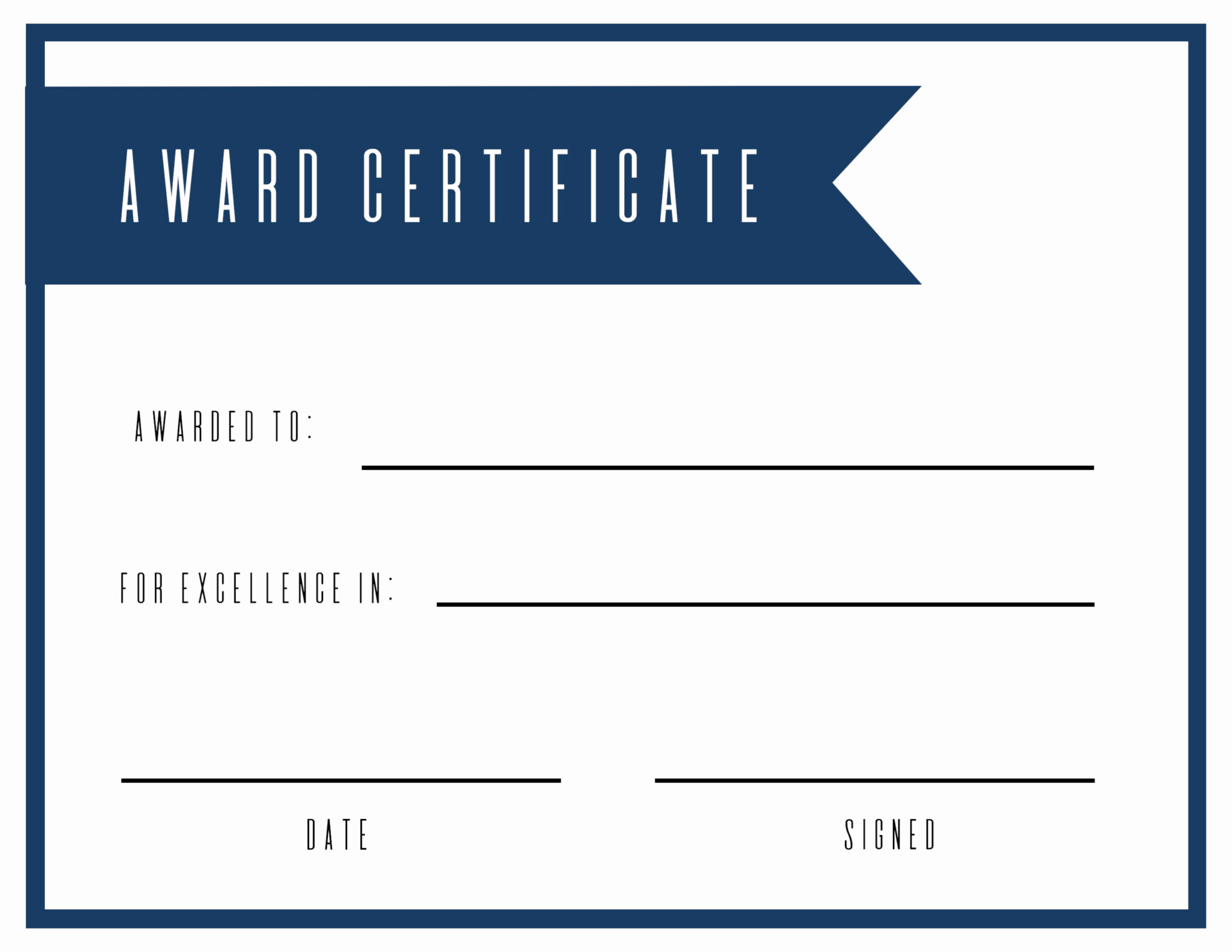 Free Printable Award Certificates New Free Printable Award Certificate Template Paper Trail Design